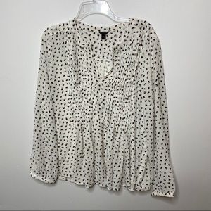 Ann Taylor Pleated Cheetah Leopard Blouse